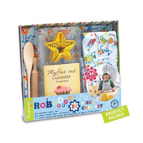 Cooksmart Boys Chef Set (robot), 10 Piece