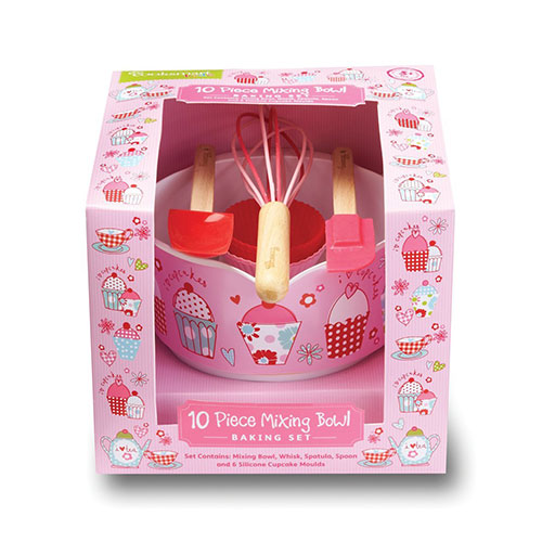 Cooksmart Kids Cupcake 10-Piece Mixing Bowl Set