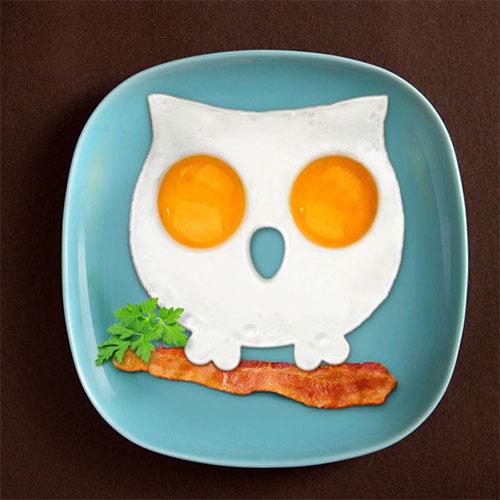 Funny Side Up Owl Egg Mould