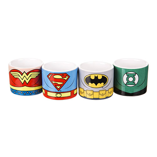 Justice League of America - Set of 4 Egg Cups