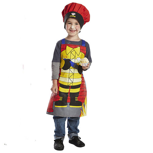 Lakeland Fireman Children's Apron & Matching Chef's Hat