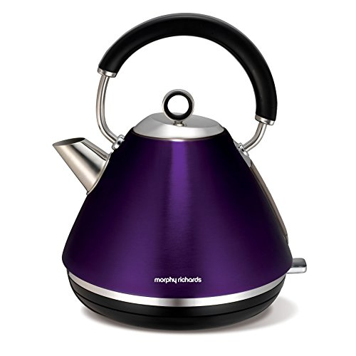 Morphy Richards Accents Plum Purple Pyramid Kettle