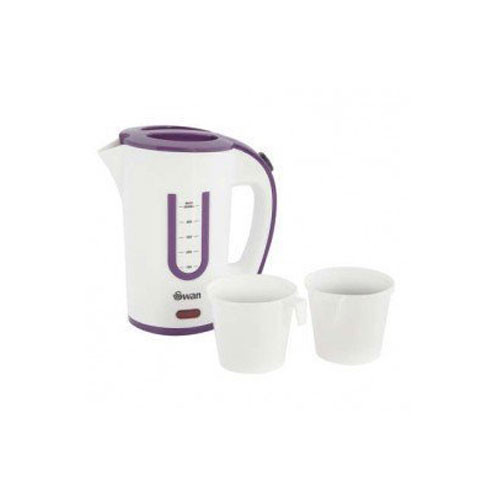 Swan Purple Travel Kettle with Two Cups