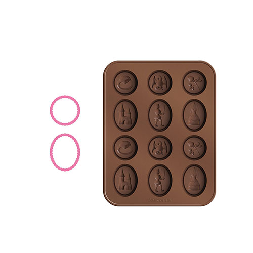 Tescoma Delicia Kids Fairytale Chocolate Mould Set with Chocolate Cookie Cutters