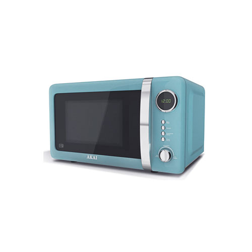 Akai A24005B Digital Microwave, 700 Watt, Duck Egg Blue