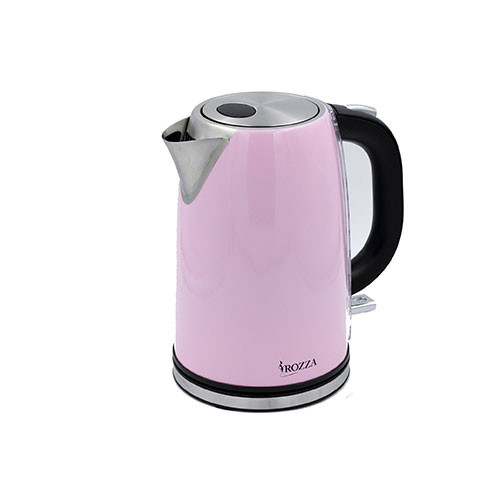 Rozza Retro Pink Stainless Steel Electric Kettle - 1.7L
