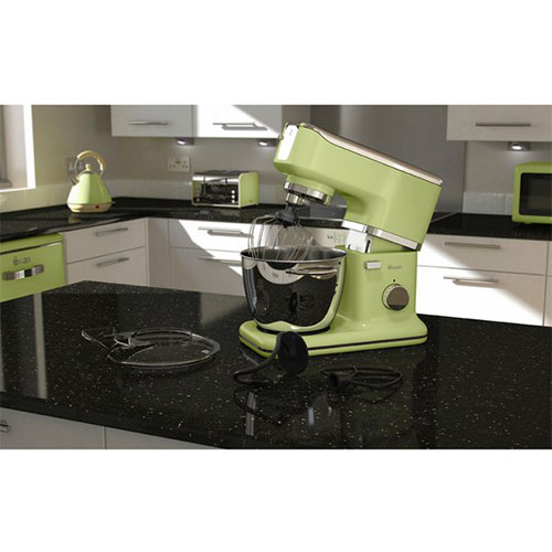 Swan retro stand mixer olive green 1000w for Olive green kitchen accessories
