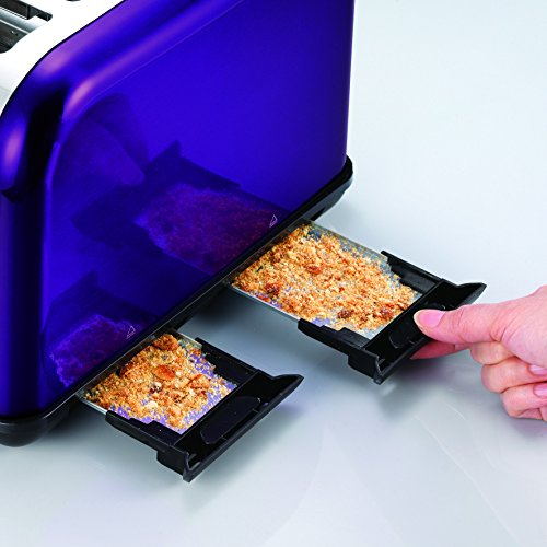 Morphy Richards Accents Four Slice Toaster Plum Purple.