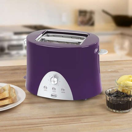 Swan 2 Slice Toaster Purple