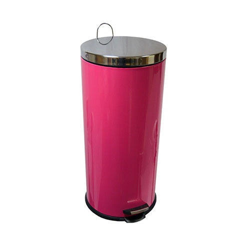 Home Discount 30 Litre Hot Pink Pedal Bin