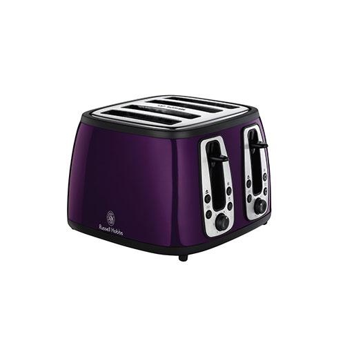 Russell Hobbs 18441 Heritage 4SL Toaster Purple