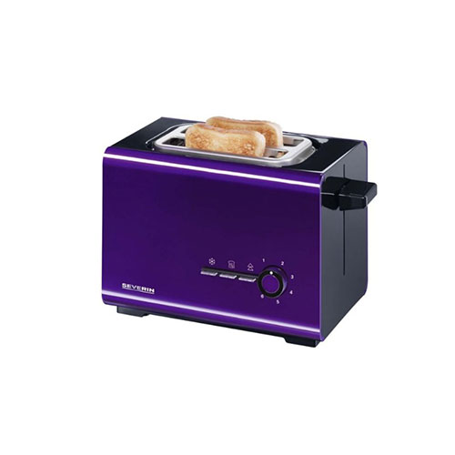 Severin Style Automatic Toaster Purple and Black