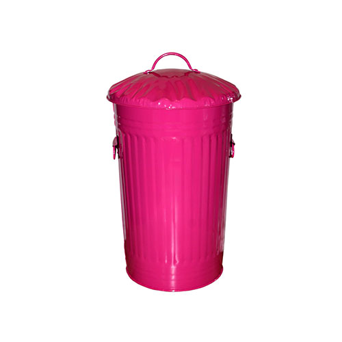 Slim Metal Magenta Hot Pink kitchen Bin 46 Litre