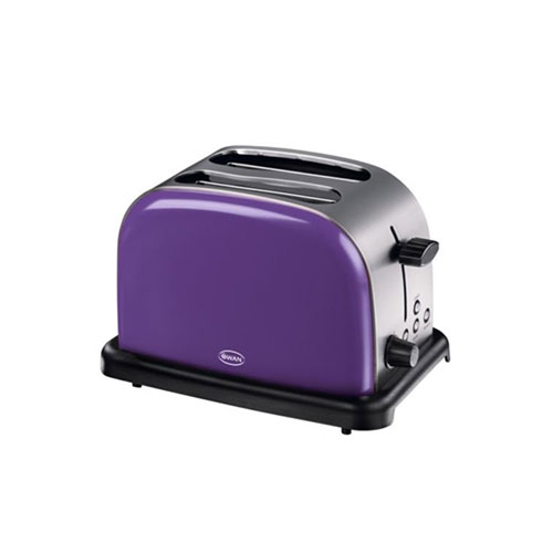 Swan Traditional 2 Slice Toaster Plum Purple ST14010PURN