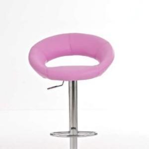 CLP Pink Bar Stool Rio de Janeiro Faux Leather Design Swivel Chair