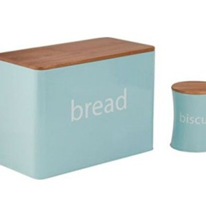 ColourMatch 5 Piece Duck Egg Blue Bamboo Lid Storage Set