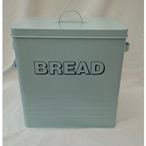 L&P Vintage Shabby Chic Bread Bin Aqua Blue