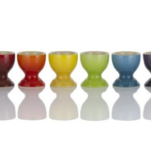 Le Creuset Stoneware Rainbow Egg Cups Set of 6