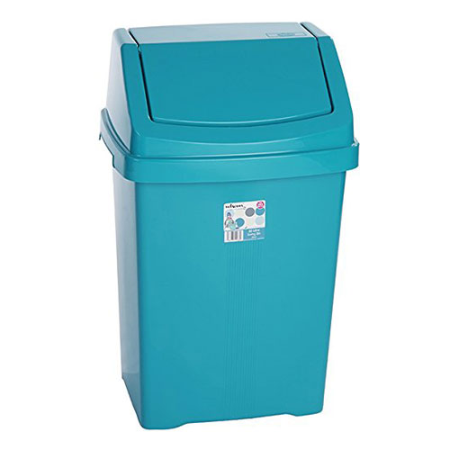 Teal Kitchen Bin