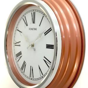 """Hometime 14"""" Diameter Quartz Copper Wall Clock"""