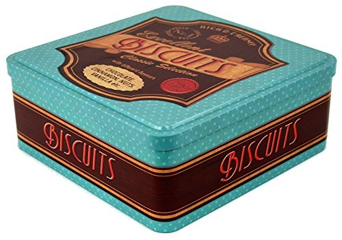 MaryMaryGardens Vintage Style Teal Biscuit Tin