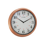 "Hometime 14"" Diameter Quartz Copper Wall clock"