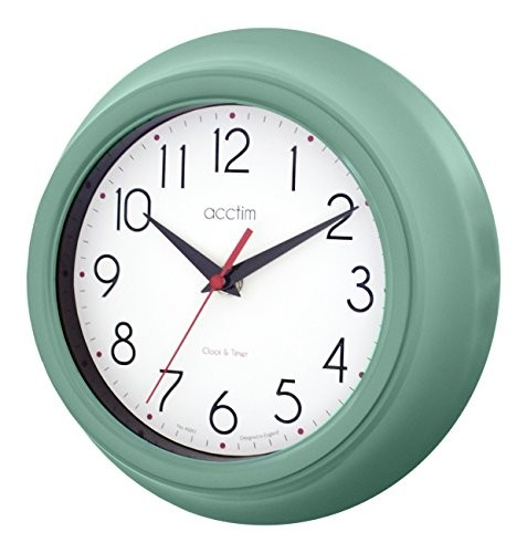 acctim amy teal wall clock my kitchen accessories