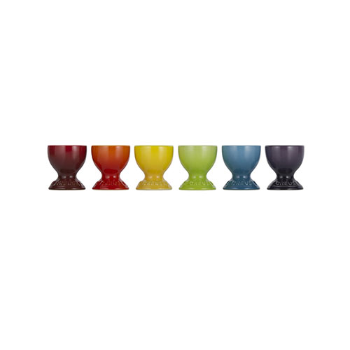 Le Creuset Stoneware Rainbow Egg Cups Set of 6