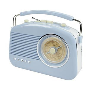 Konig Stylish Retro Table Baby Blue Radio