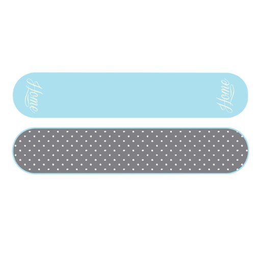 Anika Double Oven Glove Grey and Duck Egg Blue
