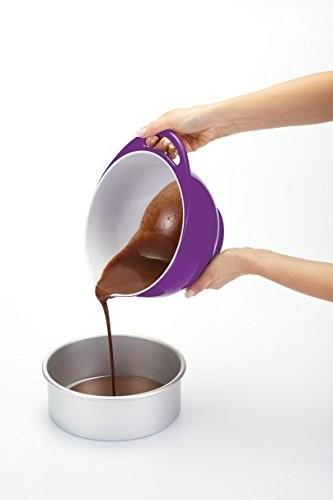 Colourworks Purple Melamine Mixing Bowl 22 cm