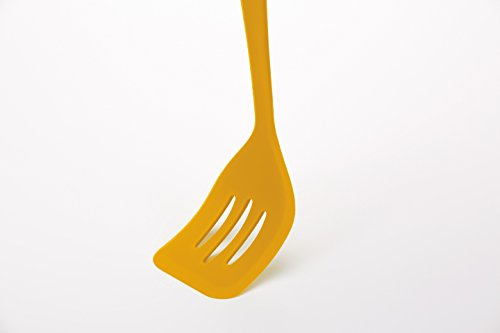 Kitchen Craft Colourworks Yellow Silicone Food Turner, 32 cm
