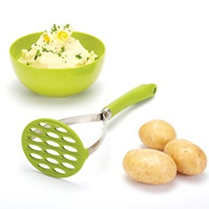 Kitchen Craft Colourworks Lime Green Silicone Masher