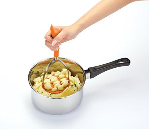 Kitchen Craft Colourworks Orange Silicone Masher
