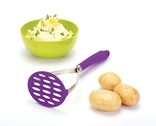 Kitchen Craft Colourworks Purple Silicone Masher