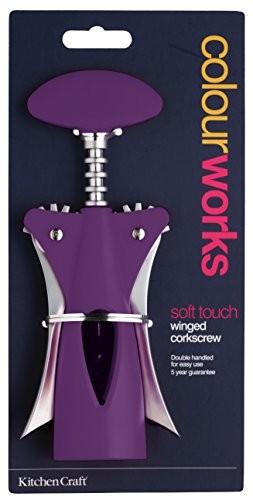 Kitchen Craft Colourworks Purple Winged Corkscrew