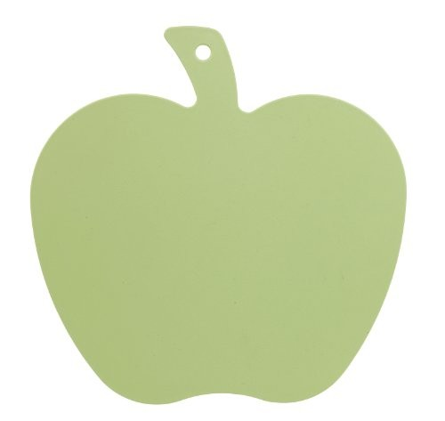 Excellent Housewares Lime Green Cutting Board Apple Shape
