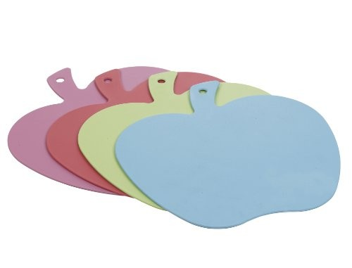 Excellent Housewares Sky Blue Cutting Board Apple Shape