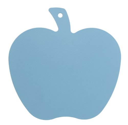 Excellent Housewares Sky Blue Cutting Board Apple Shape