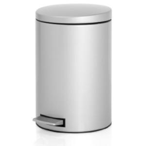 Brabantia 12 Litre Silent Pedal Bin - Metallic Grey