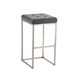 CLP Lugano Square Bar Stool Grey