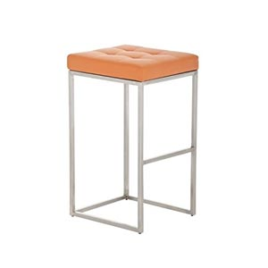 CLP Lugano Square Bar Stool Orange