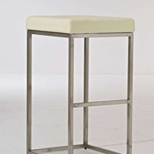 CLP Lugano Square Bar Stool Cream