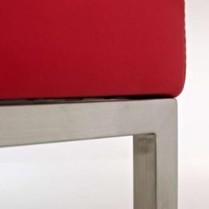 CLP Lugano Square Bar Stool Red