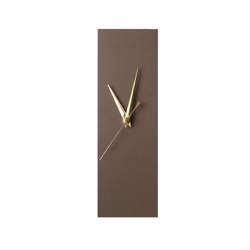 Contemporary Slim Brown Wall Clock