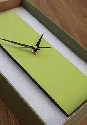 Contemporary Slim Lime Green Wall Clock