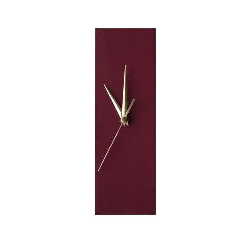 Contemporary Slim Mauve Purple Wall Clock