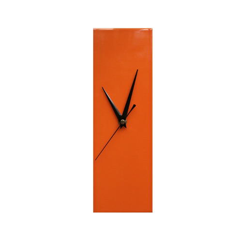 Contemporary Slim Orange Wall Clock