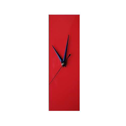 Contemporary Slim Red Wall Clock