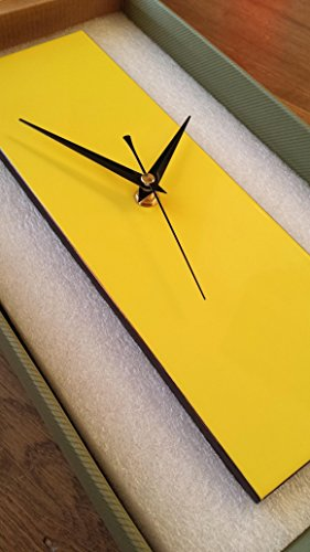 Contemporary-Slim-Yellow-Wall-Clock-30cm-with-Pointed-Hands-0-1